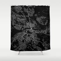 stockholm Shower Curtains featuring Stockholm  by Line Line Lines