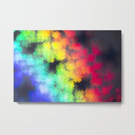 four leaved clover in rainbow colors Metal Print