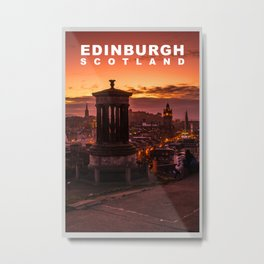 The City of Edinburgh, Scotland Metal Print