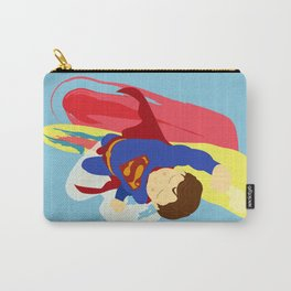 Superman Squishy - Cartoon Superhero Illustration Print Carry-All Pouch