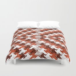 Eagles and Flowers and Eagles Duvet Cover