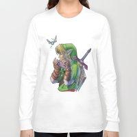 zelda Long Sleeve T-shirts featuring Zelda by Melina Espinoza