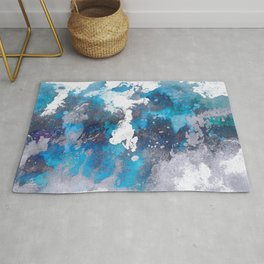 Abstract Ocean Waves Rug