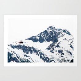 Frozen copter Art Print