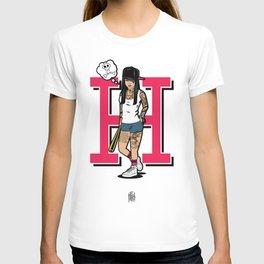 Hood girl color T-shirt