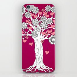 romantic tree on vinous iPhone Skin