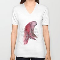 text V-neck T-shirts featuring birdy text!  by gasponce