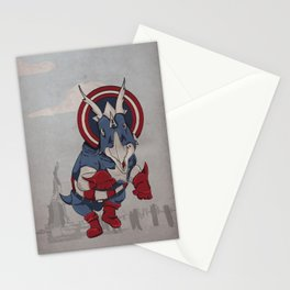 Captain Ameritops - Superhero Dinosaurs Series Stationery Cards