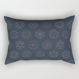 Geocircles (Blue II) Rectangular Pillow