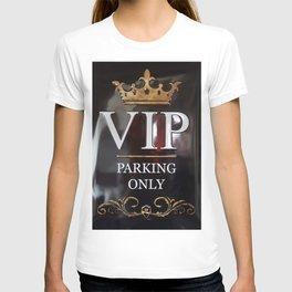 VIP- gold on black T-shirt