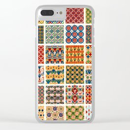 Egyptian Patterns from Vintage Design Book Clear iPhone Case