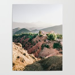 Travel photography Atlas Mountains Ourika | Colorful Marrakech Morocco photo Poster
