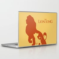 simba Laptop & iPad Skins featuring The Lion King by Citron Vert