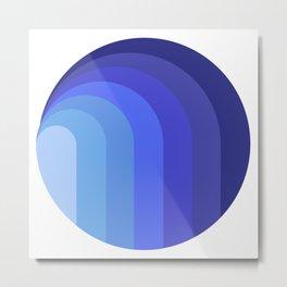 Blue moon geometric escape Metal Print