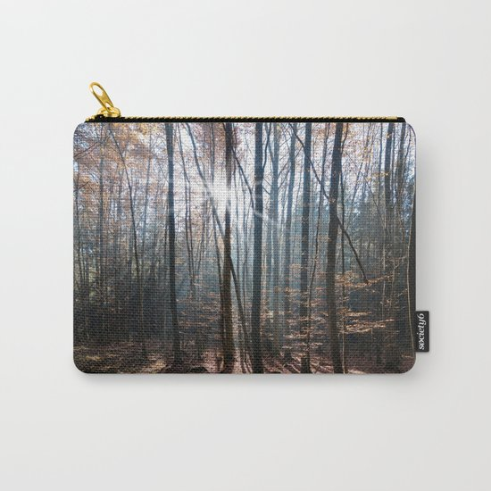 Light Shining in the Forest Carry-All Pouch