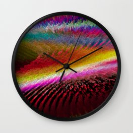 Colour in Waves Wall Clock