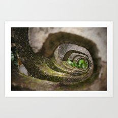 Stone waves Art Print