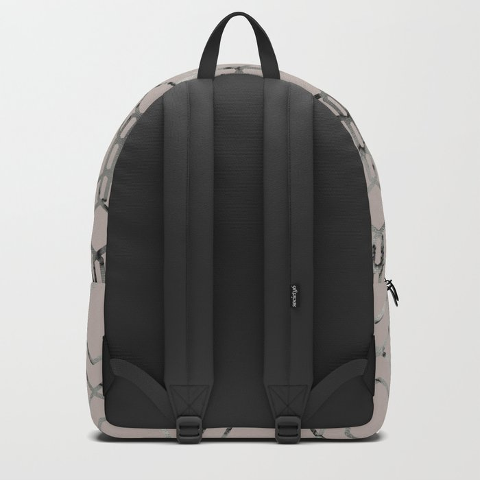 Silver Geometric Art Deco - Gatsby Taupe Backpack