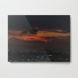 A Sky On Fire Metal Print