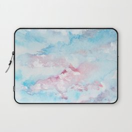 Pink and Blue Clouds . Sky Laptop Sleeve