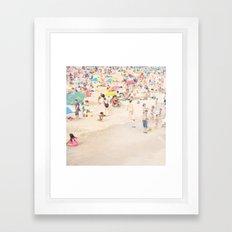 Beach Crowd Framed Art Print