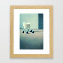 Blue Berry Milk Framed Art Print