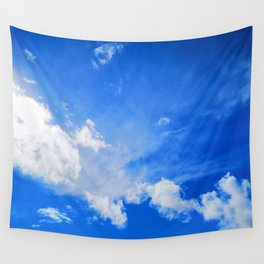 blue cloudy sky std Wall Tapestry