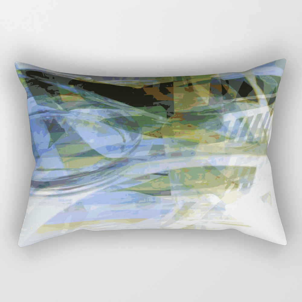 Abstract Ink In White Rectangular Pillow RPW8707914