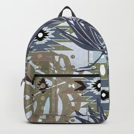 Leaves and elements of ethnic ornament Backpack