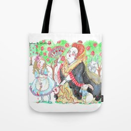 Alice's Adventures In Wonderland: Queen Of Hearts Tote Bag
