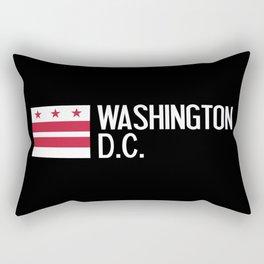 Washington D.C.: Washington D.C. Flag Rectangular Pillow