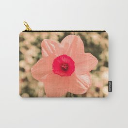 Spring Soft Pink Daffodil Blossom Carry-All Pouch
