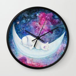 Sleeping in the universe Wall Clock