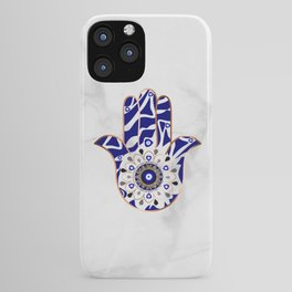 Talk to the Evil Eye Hamsa Hand iPhone Case