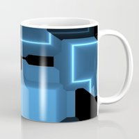 tron Mugs featuring Tron by Fine2art