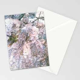 wisteria flowers Stationery Cards