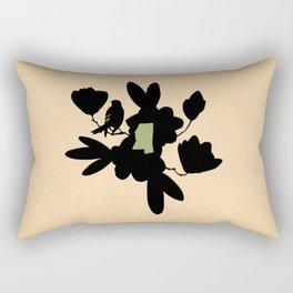 Mississippi - State Papercut Print Rectangular Pillow