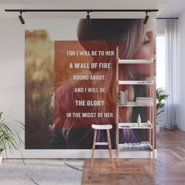 WALL OF FIRE Wall Mural