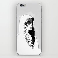 silent iPhone & iPod Skins featuring Silent by Cassandra Jean
