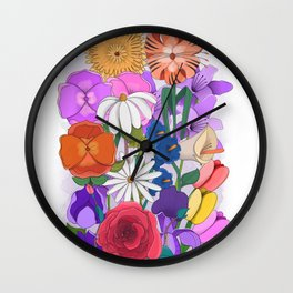 Party in the Garden Wall Clock