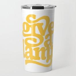 give a damn Travel Mug