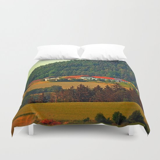 Farm taking an afternoon nap Duvet Cover