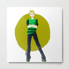 blonde boy Metal Print