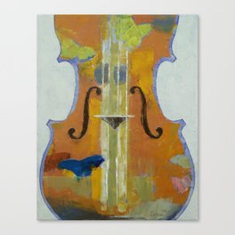 Violin Butterflies Canvas Print