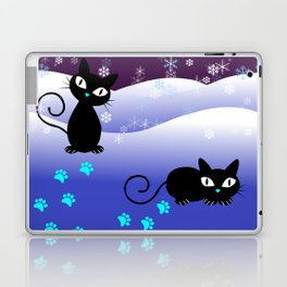 Glow in the Dark Xmas Cats Laptop & iPad Skin