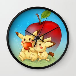 Omm Nom Nom Wall Clock