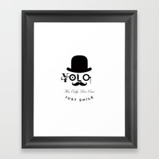 YOLO : You Only Live Once - Just Smile Framed Art Print