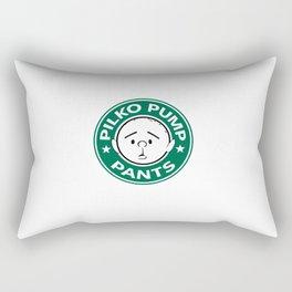 Pilko Pump Pants - Karl Pilkington Starbucks Rectangular Pillow