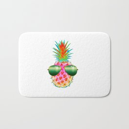 Electric Pineapple with Shades Bath Mat