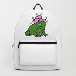 Frog With A Cowboy Hat Backpack